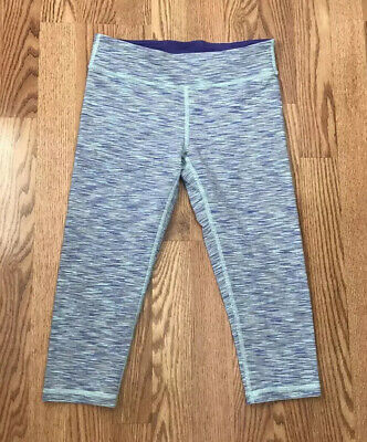 Ivivva By Lululemon Girls size 14 Multicolor Cropped Capri Leggings