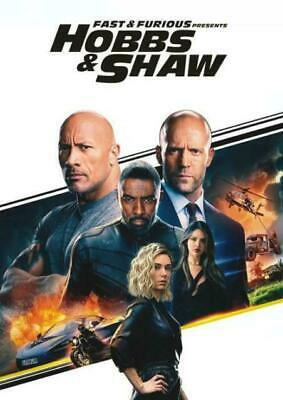 Fast & Furious Presents:Hobbs & Shaw (New Sealed 2019 Dvd) High Action