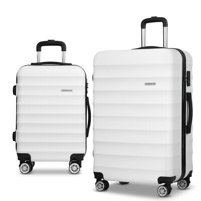 Wanderlite 2pc Luggage Suitcase Trolley Set TSA Travel Hard Case Free Scale