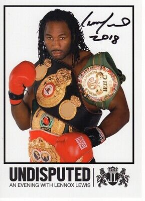 Lennox Lewis Signed 8x6 Photograph (LL1) - Hand Signed with COA