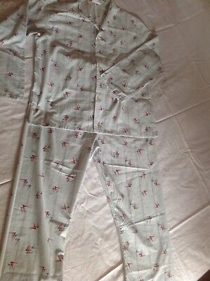 VINTAGE RETRO ERA 'KOALA' MENS LONG COTTON BLEND PYJAMAS size L