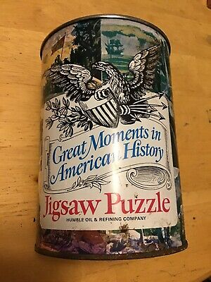 "Vintage 1969 Humble Oil ""Great Moments In American History"" Jigsaw Puzzle.  # 6"