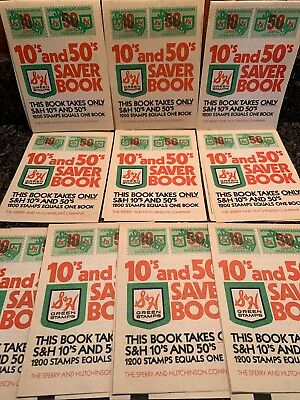 Lot of 10 Vintage New 1970's S&H Sperry Hutchinson Green Stamp Saver Book Unused