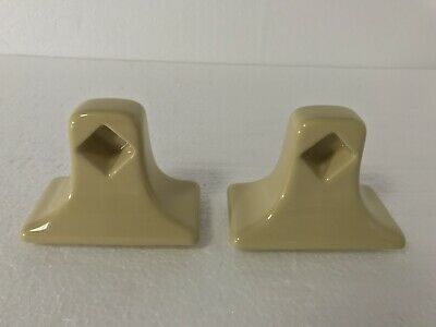Harvest Gold Ceramic Towel Bar Rod Holders Posts Classic Color 031 Mid Century