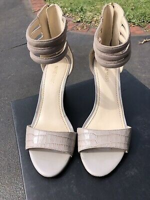 nine west 7.5 Beige Wedges