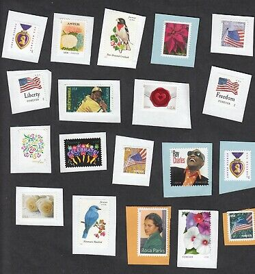 100 Uncancelled Forever Stamps On Paper!  FV $55 Free Shipping! Nice! No reserve