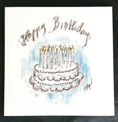 AUTHENTIC CHANEL HAPPY BIRTHDAY SKETCH CARD BY KARL LAGERFELD RARE Brand New