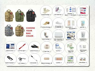 85 Piece Deluxe EDC IFAK Emergency First Aid Kit Pack & ChoiceRip Away MOLLE Bag