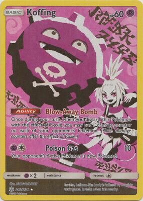 1x - Koffing - 243/236 - Secret Rare NM Pokemon Cosmic Eclipse