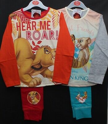 LION KING Pyjamas / Girls Official Disney PJs in a choice of 2 styles 4-10 years