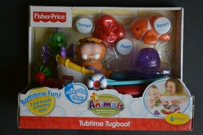 Fisher Price Amazing Animals tubtime Tugboat BNIB