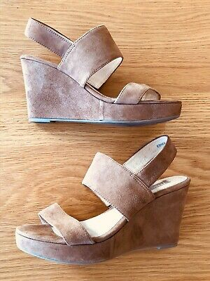 Women's Rmk Brown Suede Wedges Size 39
