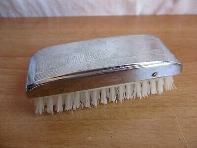 VINTAGE 1960's CHROMIUM MENS HAIR BRUSH – ENGLAND - EXCELLENT CONDITION