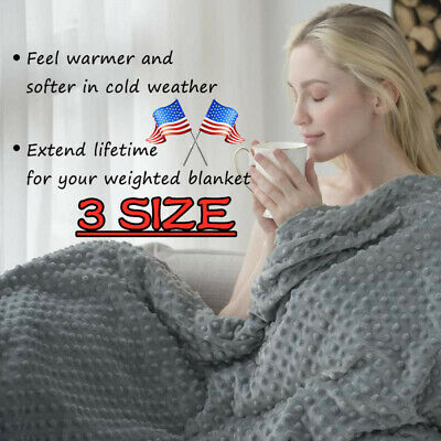 """60"""" x80"""" Weighted Blanket Full Queen Size Reduce Stress Promote Deep Sleep US"""