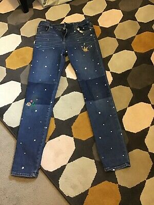 Girls Gap Skinny Jeans Age 16 With Stars And Flowers