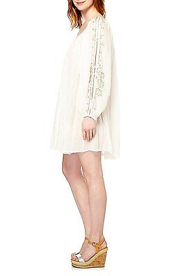 FRENCH CONNECTION embellished beach mini dress abito vestito donna mare M BNWT