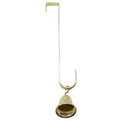 Wreath #11 The PERFECT WIND CHIME BELL-4 Long BOHO Rustic Gold Bells for Doors