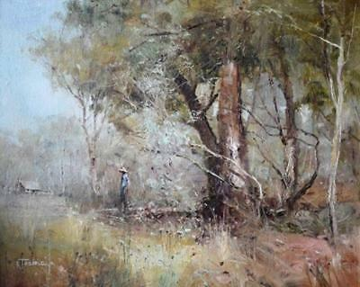 Nice oil on canvas by Robert Todonai Australian The Bush Walk  24cm x 19cm