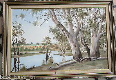 "Nice Oil on board by Jan Wagner ""Rilly Reserve"" 75cm x 49cm 938"