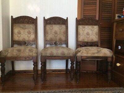 3 Antique Dining Chairs!