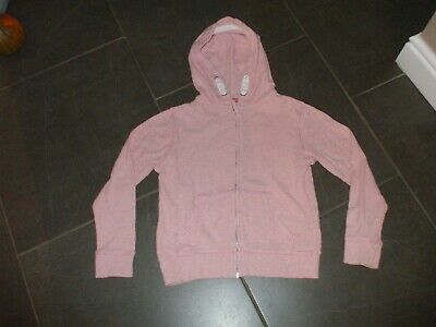 Girls Hoodie Coat Pink Next Age 9 Hoody Cotton Front Zip Lovely Non Smoke