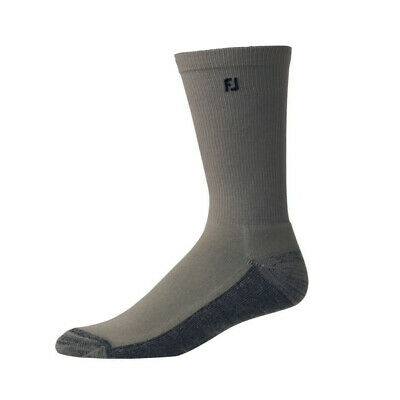 Footjoy ProDry Mens Crew Socks, Charcoal/Anthracite, 6 Pair Pack