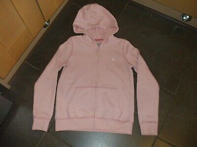 Girls Hoodie Coat Pink Tu Age 10 Hoody Poly/Cotton Front Zip Lovely Non Smoke