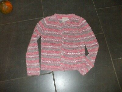 Girls Cardigan By M&S Age 6-7 Cotton/Poly  Perfect Non Smoke Pink Very Pretty