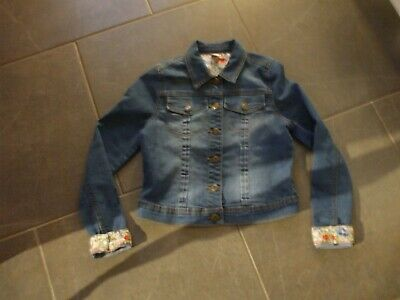 Girls Denim Coat Tu Age 11-12 Cotton Poly Button Front Perfect Non Smoke
