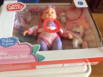 Baby Chad Valley Babies To Love Baby Travelling Set Boxed New Age 2+ Ideal Xmas