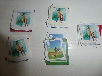 50 Great Britain 2Nd Class Unfranked Christmas Stamps