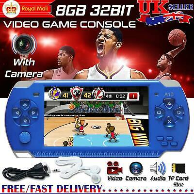 8GB 4.3'' PSP Portable Handheld Video Game Console Built-in 10000+Games w/Camera