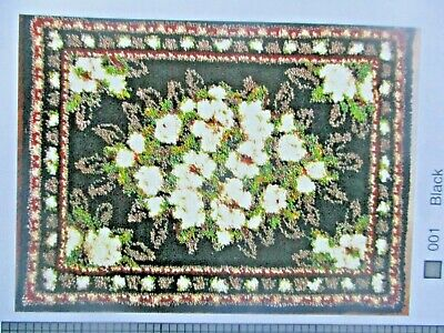 "LATCH HOOK RUG  KIT ""MAGNOLIA"" Floral design by Mary Maxim"