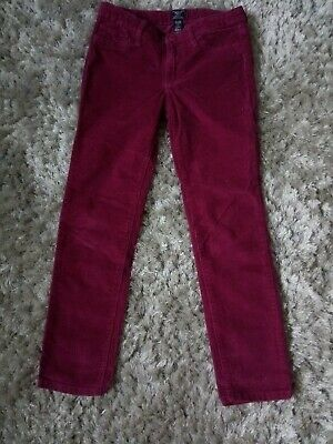 Gap Girls Pink Ruby Skinny Fit Cord Trousers Size 8-9 Height 130cm