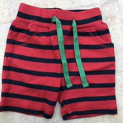 Frugi Organic Cotton Baby Boys Striped Shorts 0-3 Months