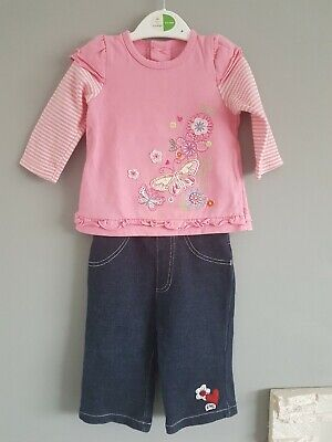 💕 George  💕 Girls    top + trousers    3 - 6  Months   💕