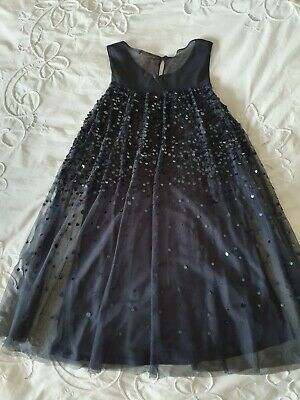 Girls Navy Party Dress Next Sequin Next Age 9 Yrs worn once