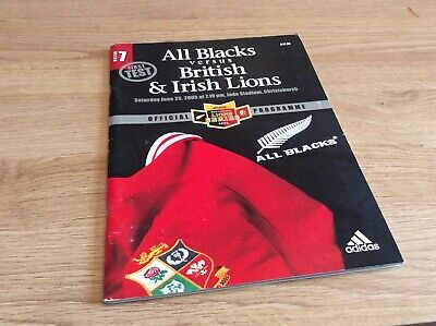 2005 first  test the all Blacks versus British Lions official program