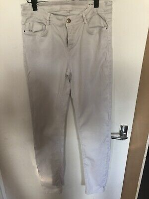 Ladies Womens Off White Skinny Zara Jeans Size 12