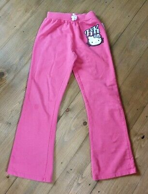 Girls Hello Kitty Tracksuit Trousers jogging bottoms Age 9