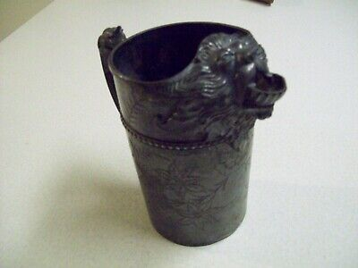 Antique James W.Tufts Lions Head Pitcher-Quadruple Silver Plate