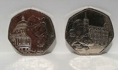 Paddington Bear Tower of London St Paul's 50p Fifty Pence Coin Currency 2019