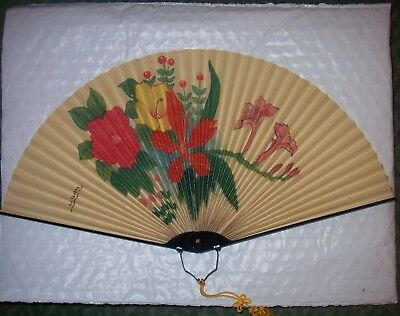 Chinese Paper Fan Made in the Peoples Republic of China