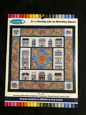 Sarah Vedler, It's a Sterling Life Embroidery Designs, NEW, Quilt