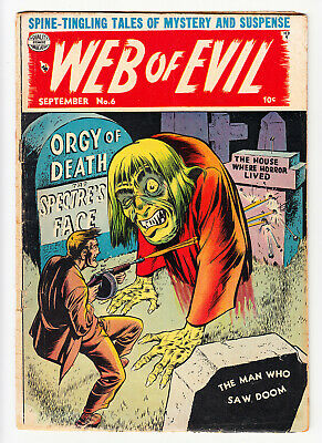 Web Of Evil #6 Jack Cole Classic  Pre-Code Horror 1953!