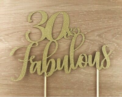 20 30 50 60 70 80 Cupcake options 40 and Fabulous glitter birthday cake topper