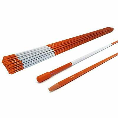 Driveway Markers Snow Stakes 12 Pack of 48 Inch Orange Reflective markers