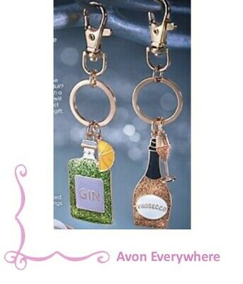 Avon Novelty Key Rings - Gin or Prosecco
