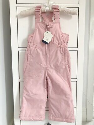 GAP Pretty Pink Snow Trousers Half-Zip Overalls 2 Years NEW BNWT