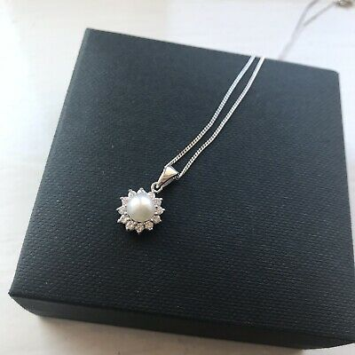 Pearl Necklace Pendant Wedding New